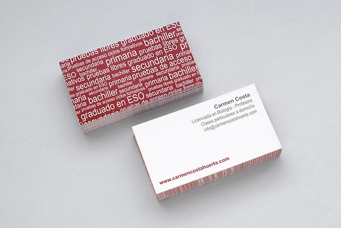 tarjeta de visita profesora
